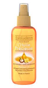 test huile précieuse evoluderm