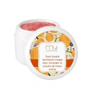 pate-argile-exfoliante-fleur-oranger-noyau-olive